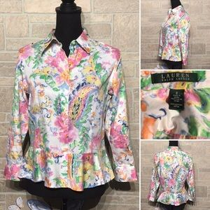 Lauren Ralph Lauren Sz 8 - beautiful peplum blouse